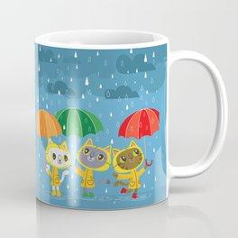 Rainy Day Kitty Cats Coffee Mug