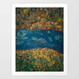 ColorFall River Art Print