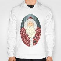 santa Hoodies featuring Santa by Beesants