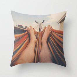 Lazy Hammock Day Throw Pillow