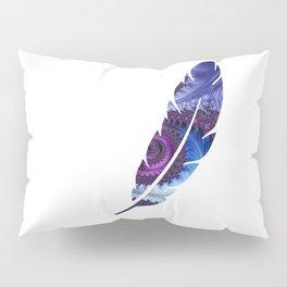 Feathery Flow Feather Cutout - Fractal Art Pillow Sham