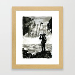you will remember none of this Framed Art Print
