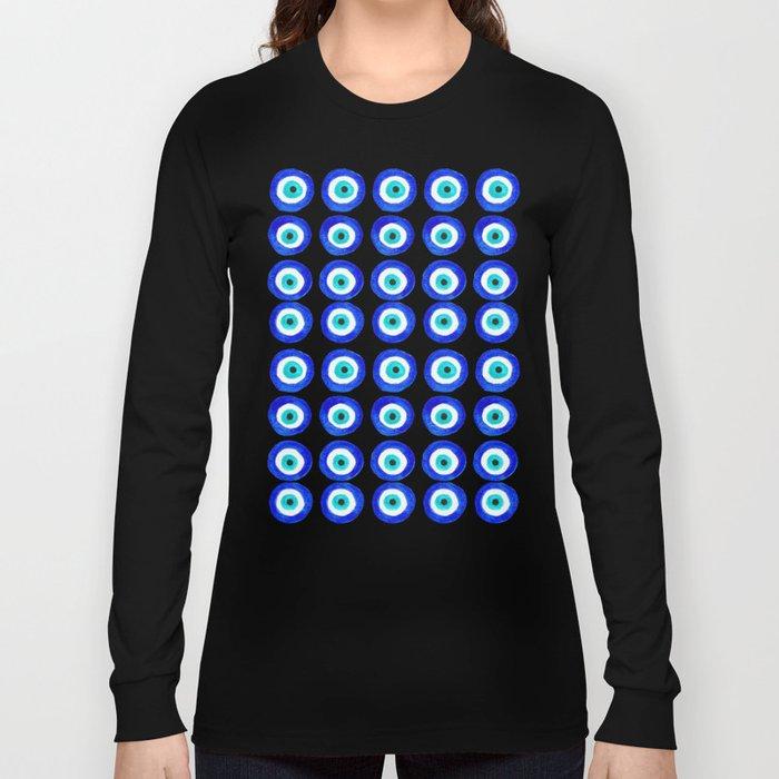 Evil Eye Amulet Talisman - on turquoise Long Sleeve T-shirt