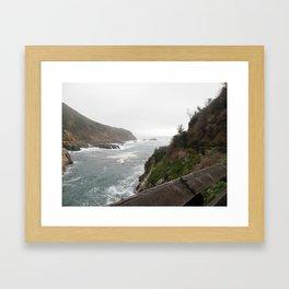 Foggy Day at Big Sur Framed Art Print