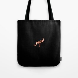 Nope   [black & color] Tote Bag