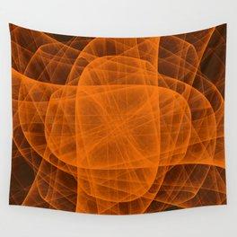Eternal Rounded Cross in Orange Brown Wall Tapestry