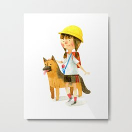 Totochan and Rocky Metal Print