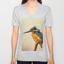 Kingfisher Bird Unisex V-Neck