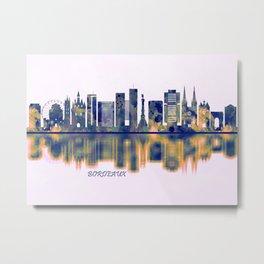 Bordeaux Skyline Metal Print