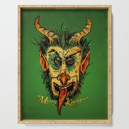 Merry Krampus Serving Tray