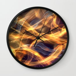 Abstract Shiny Night Lights 19 Wall Clock