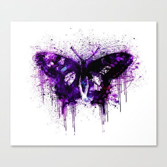 Crazy Butterfly artistic mixed media Canvas Print