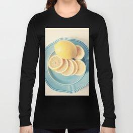 Lemons on Blue Long Sleeve T-shirt