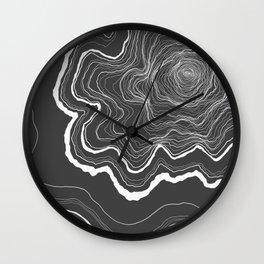 Tree Rings of Grey Wall Clock