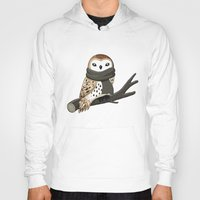 winter Hoodies featuring Winter Owl by Freeminds