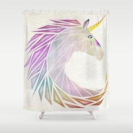 unicorn cercle Shower Curtain