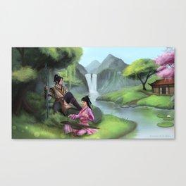 Relaxing In Jianghu Canvas Print
