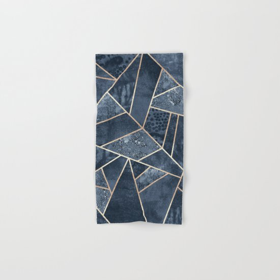 Soft Dark Blue Stone Hand & Bath Towel