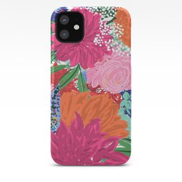 Pretty Colorful Big Flowers Hand Paint Design iPhone Case