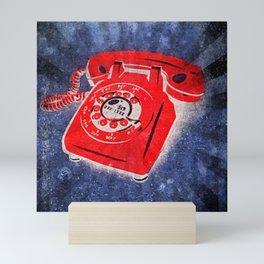 Rotary Telephone Graffiti Mini Art Print