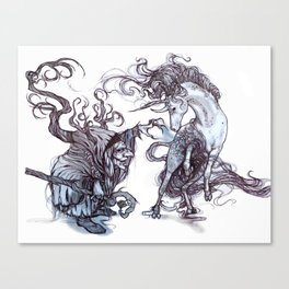 The Witch's Captive Canvas Print