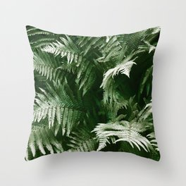 Green Inferno Throw Pillow