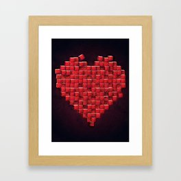 Cube Heart Framed Art Print
