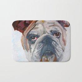 American Bulldog Portrait: Yale Mascot Bath Mat