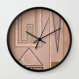 Mid mod mauve Wall Clock