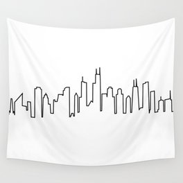 Chicago, Illinois City Skyline Wall Tapestry