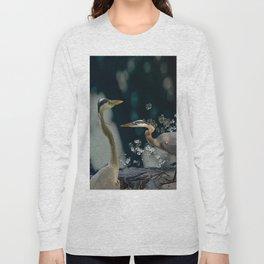 Great blue herons Long Sleeve T-shirt