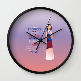 flower that blooms, mulan Wall Clock