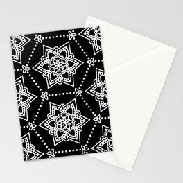 White Mandalas Stationery Cards