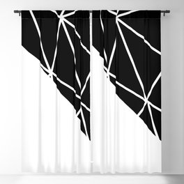 GEOMETRIC PATTERN (BLACK-WHITE) Blackout Curtain
