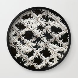 Frosted Fence Wall Clock