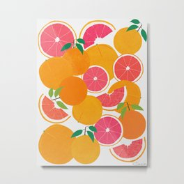 Grapefruit Harvest Metal Print