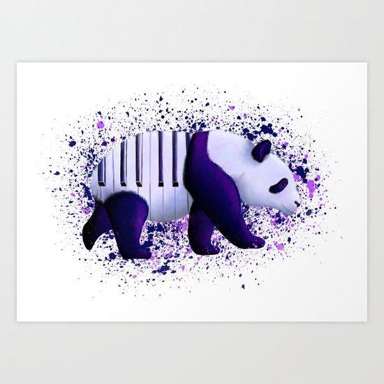 Piano Panda Art Print