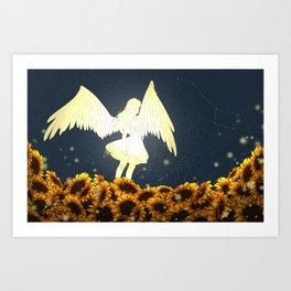 Angel Above Art Print
