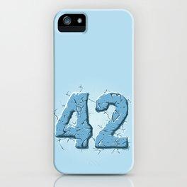 42 ice iPhone Case