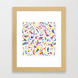 Abstract Painterly Brushstrokes Framed Art Print