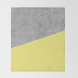 Concrete and Yellow Color Throw Blanket