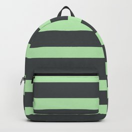 Mint Green on Gary Background Backpack