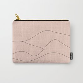Pink Mountains Minimal Carry-All Pouch