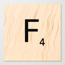 Letter F - Scrabble Art Canvas Print