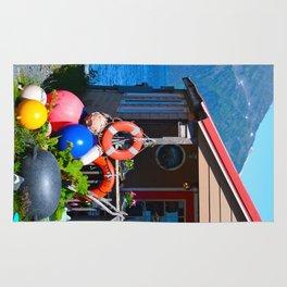 Boat Floats Display - Whittier, Alaska Rug