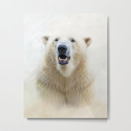 Cute  Zoo Polar Bear Metal Print