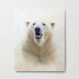 Cute  Zoo Polar Bear Metal Print