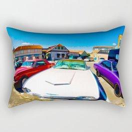 Colorful vintage cars Rectangular Pillow