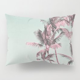 Tropical Palm Trees In Surreal Pink Pillow Sham