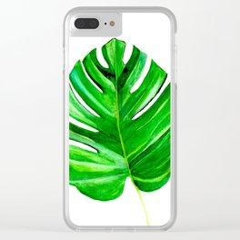 Split Leaf Clear iPhone Case